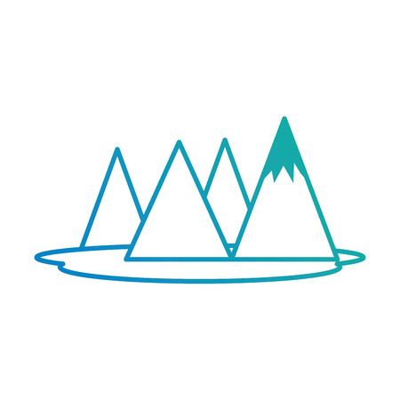 alpinism: mountains camp isolated icon vector illustration design