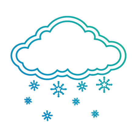cloud weather with snowflakes vector illustration design Ilustrace