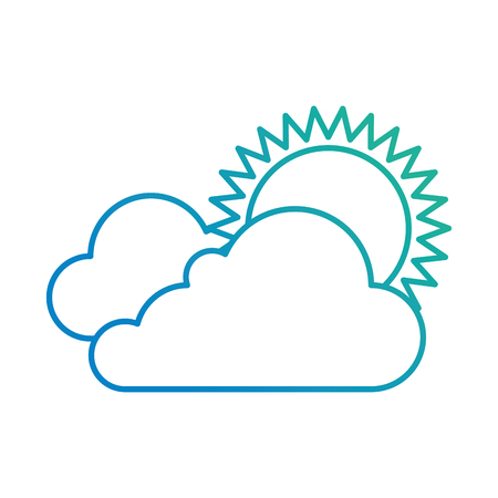 cloud weather with sun vector illustration design 版權商用圖片 - 87693096