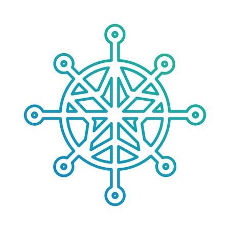 Snowflake winter isolated icon vector illustration design