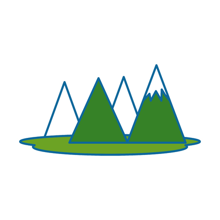 mountains camp isolated icon vector illustration design