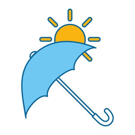 umbrella protective with sun vector illustration design 向量圖像