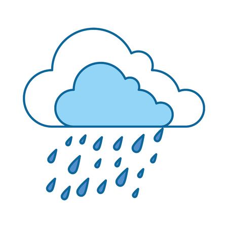 滴ベクトルイラストデザインと雲の天気  イラスト・ベクター素材