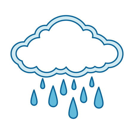 cloud weather with drops vector illustration design Banco de Imagens - 87693021