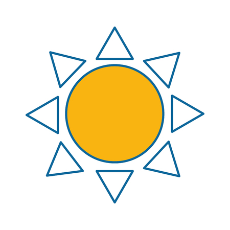 summer sun isolated icon vector illustration design Фото со стока - 87693023