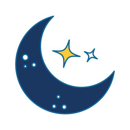 moon and stars night vector illustration design