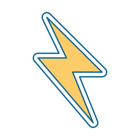 에너지 광선 격리 아이콘 벡터 일러스트 디자인 스톡 콘텐츠 - 87694136