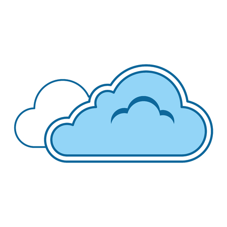 cloud weather symbol icon vector illustration design Illustration