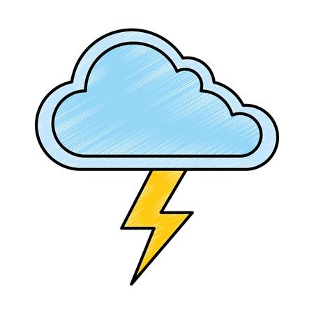 雲天気雷ベクトル イラスト デザイン