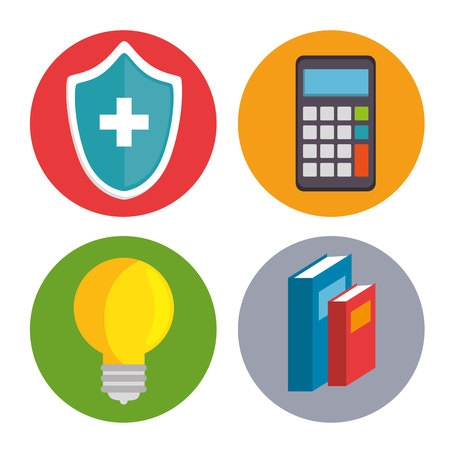 set of mental health and medical icons vector illustration graphic design Ilustracja