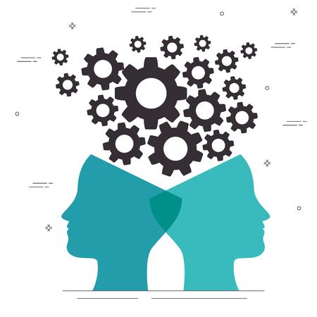 psychische Gesundheit Konzept Tag psychische Gesundheit Konzept Tag Vektorgrafik