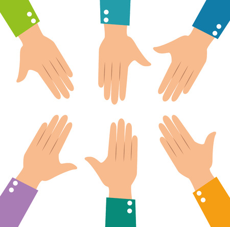 Human hands vector illustration graphic design