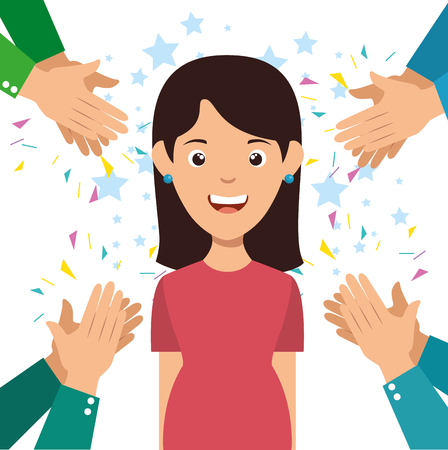 human hands clapping ovation applaud hands vector illustration graphic design Imagens - 87694287