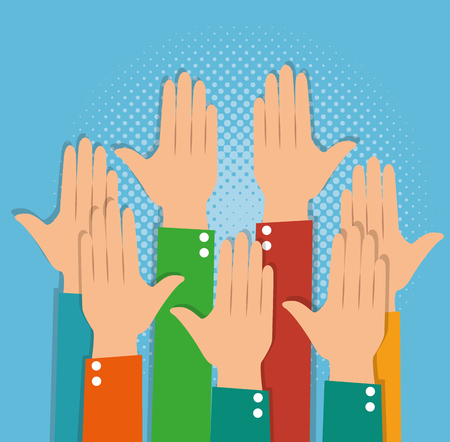 human hands clapping ovation applaud hands vector illustration graphic design