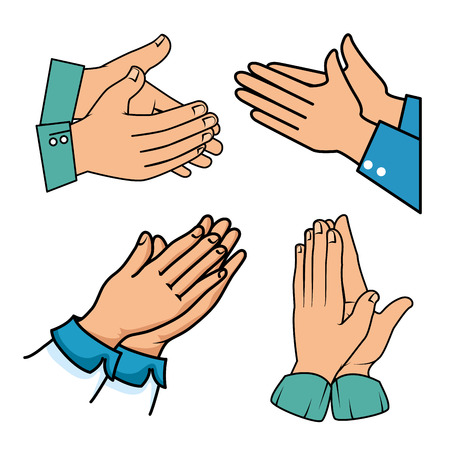 Human hands clapping vector illustration graphic design Illustration