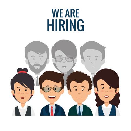 we are hiring business concept vector illustration graphic design