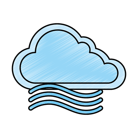 cloud weather with wind vector illustration design 版權商用圖片 - 87722413
