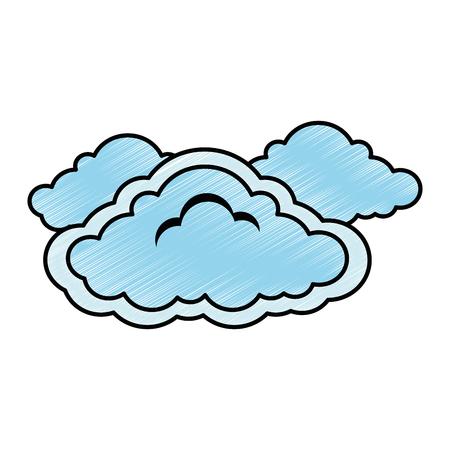 雲天気記号アイコンベクトルイラストデザイン