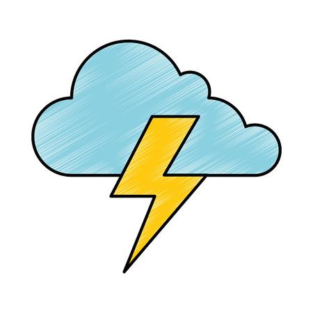 cloud weather with thunder vector illustration design 版權商用圖片 - 87723714