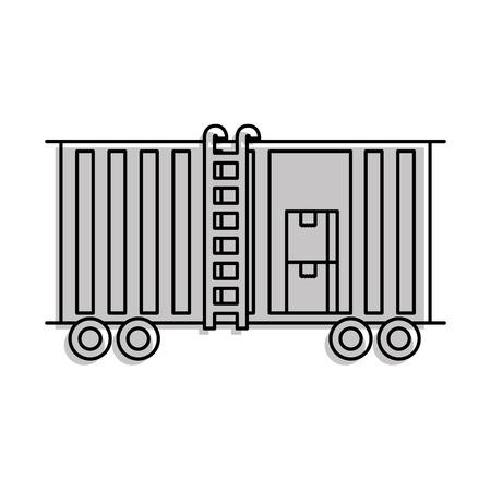 화물 열차화물 자동차 컨테이너 및 박스 물류 운송 디자인 요소