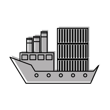 sea transportation logistic freight shipping cargo ship Stock Vector - 87724188