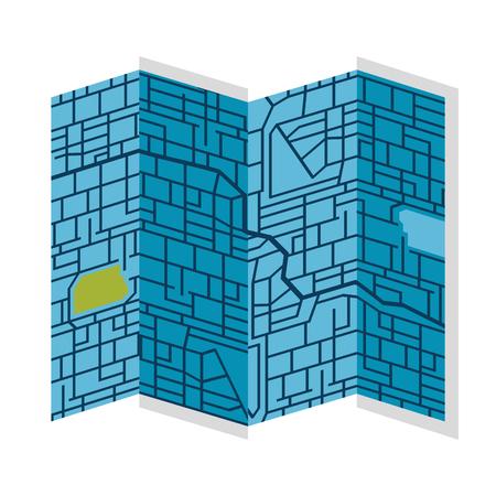 Papier kaart geïsoleerd pictogram vector illustratie ontwerp