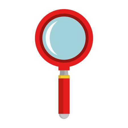 lupa aislado icono de ilustración vectorial de diseño