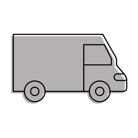 vrachtwagen pictogram bestelwagen dienst transport zakelijke vectorillustratie Stock Illustratie