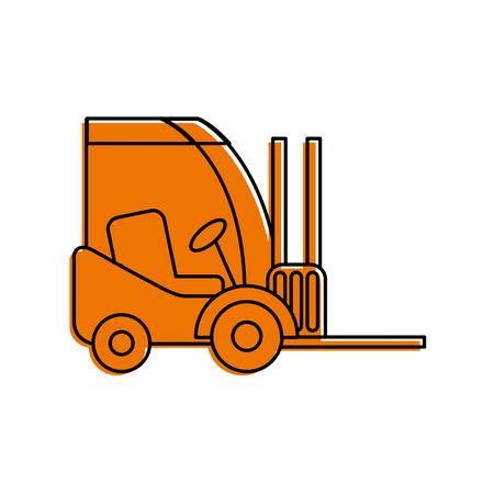 지게차 배달 트럭화물 차량 벡터 일러스트 레이션 스톡 콘텐츠 - 87724173