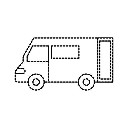 Vrachtwagen pictogram bestelwagen dienst transport zakelijke vectorillustratie Stockfoto - 87724715