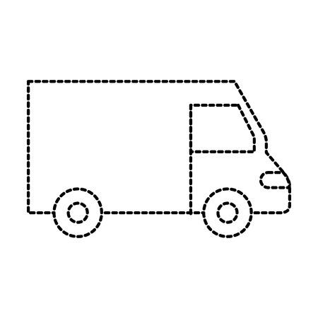 Vrachtwagen pictogram bestelwagen dienst transport zakelijke vectorillustratie Stockfoto - 87724716