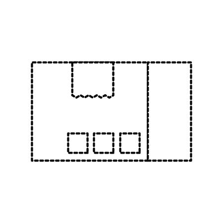 配送ダン ボール箱パック貨物アイコン ベクトル図 写真素材 - 87724720