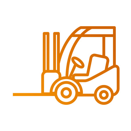 forklift delivery truck cargo vehicle vector illustration Stock Vector - 87724871