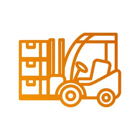 Logistique chariot élévateur boîtes transport fret illustration vectorielle Banque d'images - 87724872