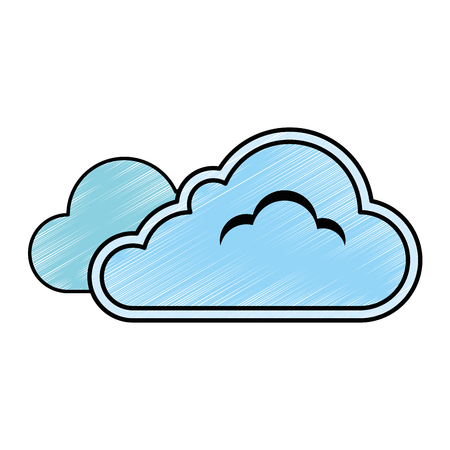 overcast: cloud weather symbol icon vector illustration design Illustration