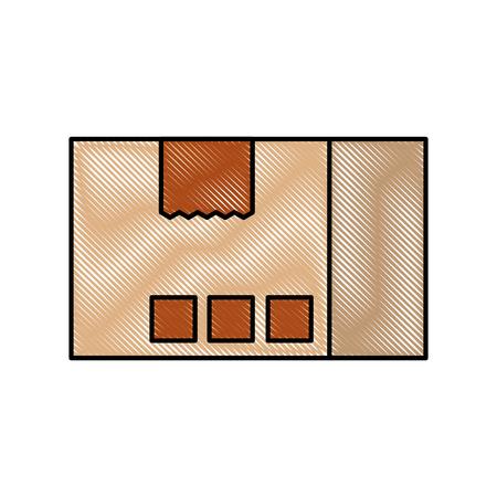 配送ダン ボール箱パック貨物アイコン ベクトル図 写真素材 - 87724666