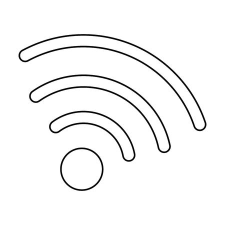 와이파이 신호 아이콘 벡터 일러스트 디자인 격리