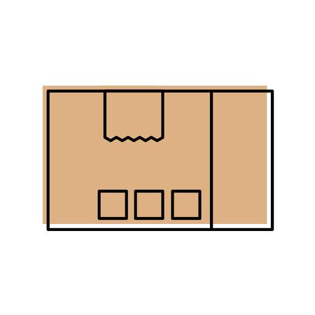 配送ダン ボール箱パック貨物アイコン ベクトル図