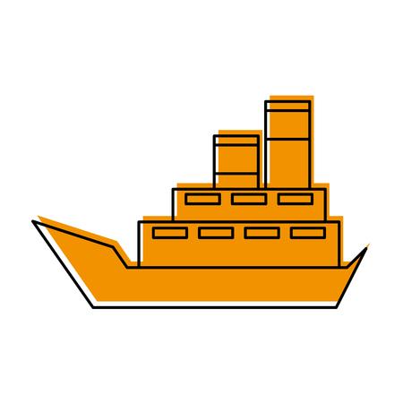 zee boot transport levering voertuig logistieke vectorillustratie