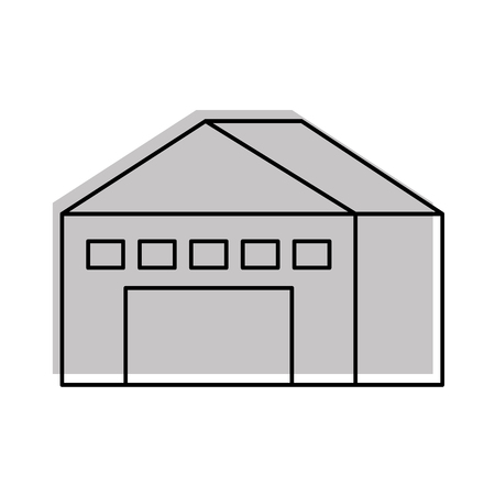 warehouse building exterior commercial empty vector illustration 向量圖像