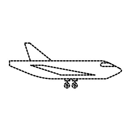 配送貨物飛行機の物流輸送ベクトル図