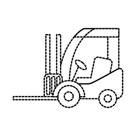 지게차 배달 트럭화물 차량 벡터 일러스트 레이션 스톡 콘텐츠 - 87724977