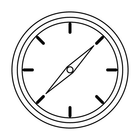 time clock isolated icon vector illustration design Фото со стока - 87726307