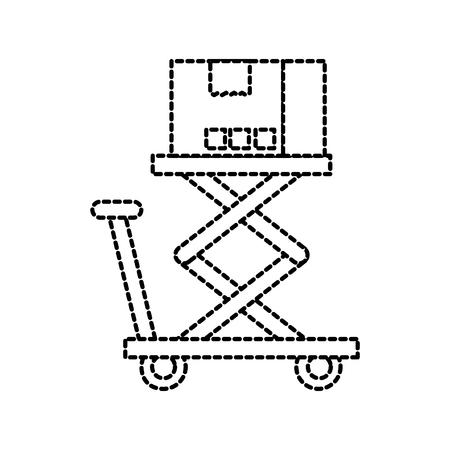 プラットフォームのストレージのベクトル図にロジスティックの段ボール箱 写真素材 - 87729269