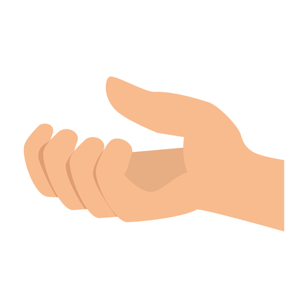 hand receiving isolated icon vector illustration design Stok Fotoğraf - 87726318
