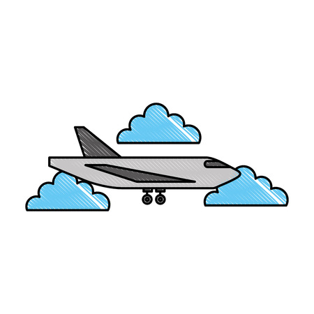 delivery cargo airplane logistic transport shipping vector illustration Stock Vector - 87726320