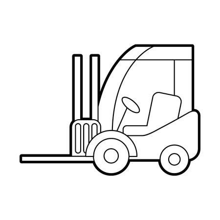 vorkheftruck bestelwagen vracht voertuig vectorillustratie