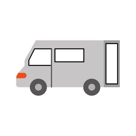 Vrachtwagen pictogram bestelwagen dienst transport zakelijke vectorillustratie Stockfoto - 87727199