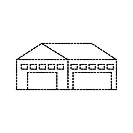 Lagergebäude außen kommerzielle leere Vektor-illustration Standard-Bild - 87727367