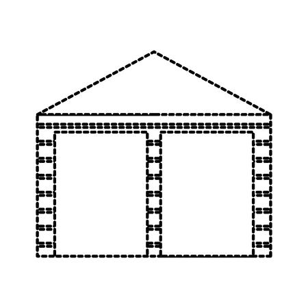 Lagergebäude außen kommerzielle leere Vektor-illustration Standard-Bild - 87727369